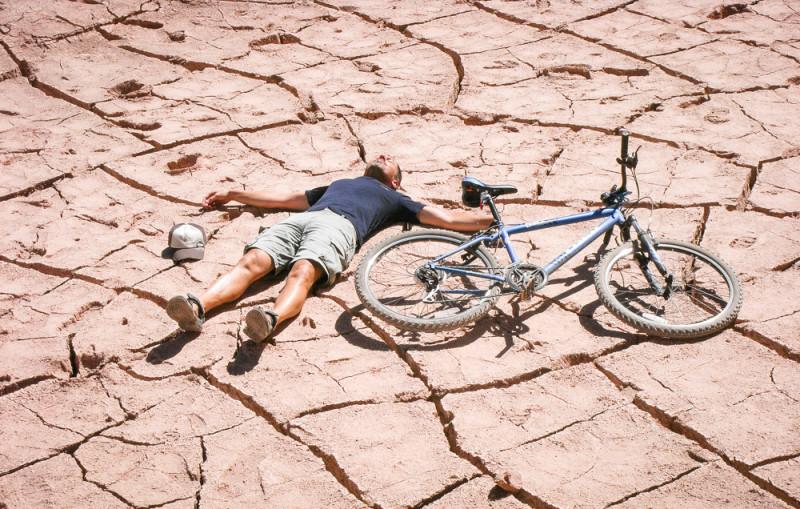 zu heiß und trocken zum Rad fahren