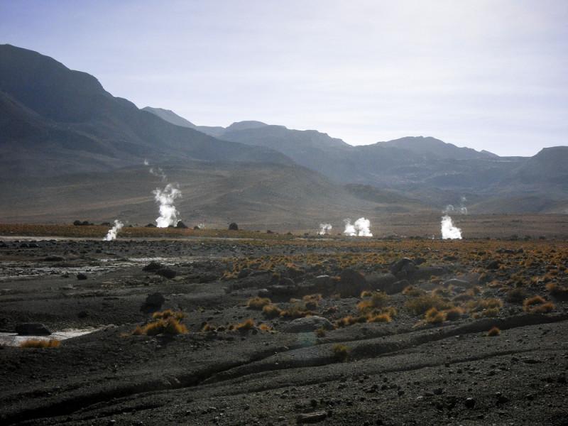 Überblick über das obere Tal des Geysirfelds